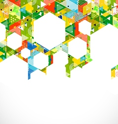 Abstract colorful and creative with geometric vector image