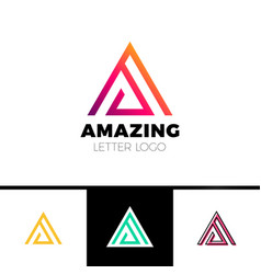 Abstract letter a logo design template arrow vector