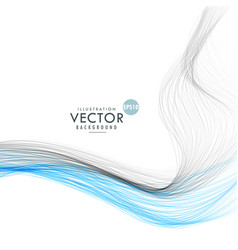 abstract line waves background vector image