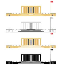 Anitkabir mausoleum in ankara turkey vector