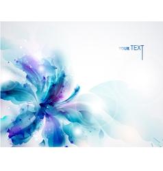 Blue flower vector