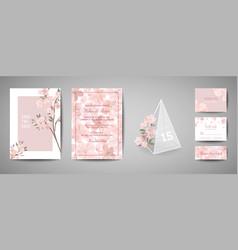 botanical wedding invitation card save the date vector image