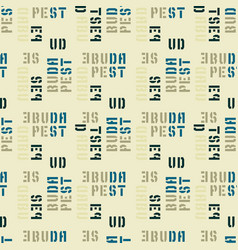 Budapest seamless pattern vector
