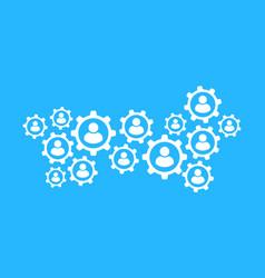 business concept web technology social media vector image