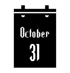 Calendar thirty first of October icon vector image