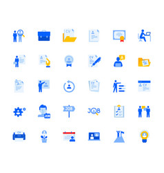 Career and human resources icons set vector