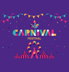 carnival typography popular event in brazil vector image