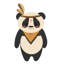 Cartoon panda indian a vector