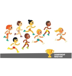 champion runners vector image