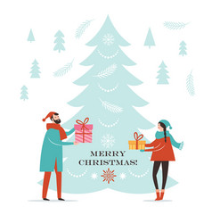 christmas card new year greeting card vector image