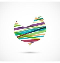 Color stripes bird vector image