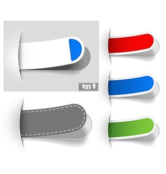 Colored tabs vector