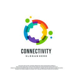 Colorful logo design concept vector