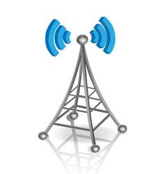 communication antenna vector image