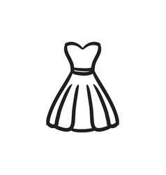 Dress sketch icon vector