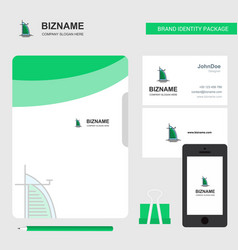 dubai hotel business logo file cover visiting vector image