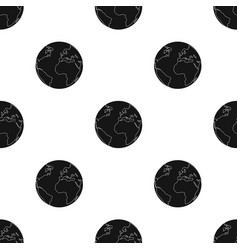 Earth icon in black style isolated on white vector