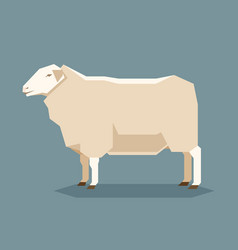 Flat geometric east friesian sheep vector