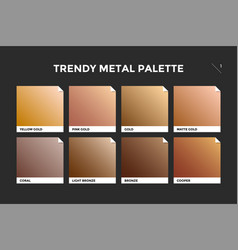 Gold copper and bronze gradient template vector
