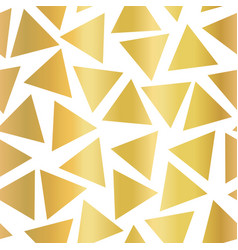 gold foil triangle seamless background vector image