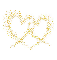 Gold hearts vector