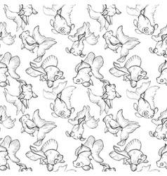 goldfish seamless pattern vector image vector image
