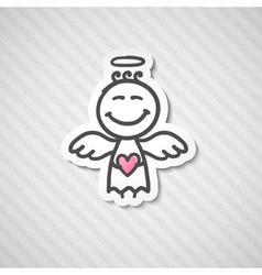 hand drawn angel vector image