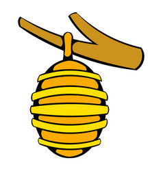 Hive on branch icon icon cartoon vector