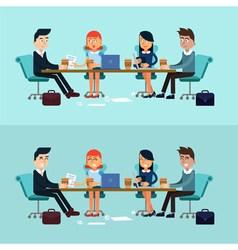Horizontal Banners Business Meeting Teamwork vector image