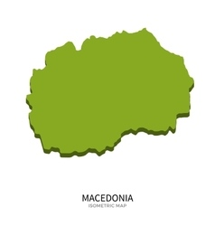 Isometric map of Macedonia detailed vector