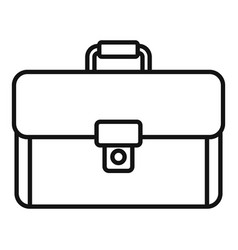 leather suitcase icon outline style vector image