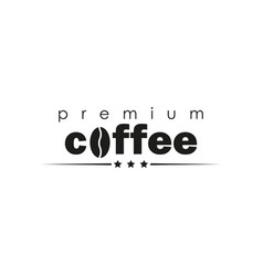 lettering coffee simple vector image