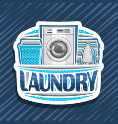 logo for laundry vector image