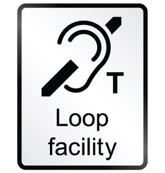 Loop Facility Information Sign vector image