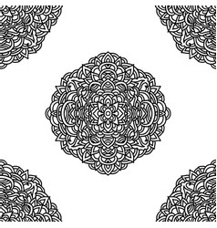 mandala pattern asian seamless pattern vector image