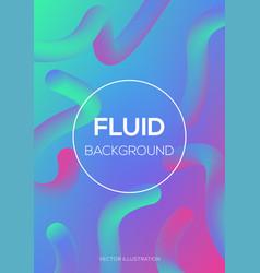 modern futuristic fluid neon light effect vector image