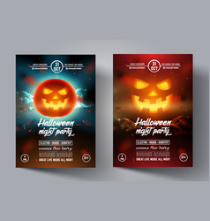 mystical party flyer happy halloween template vector image
