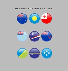 Oceania flags vector image