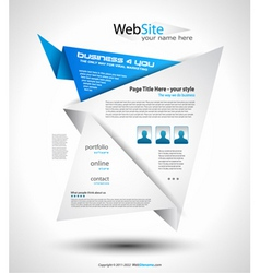 origami website vector image