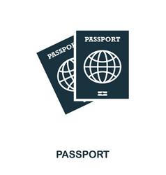 passport icon mobile app printing web site icon vector image