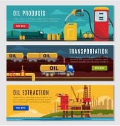 Petroleum Industry Horizontal Banners Set vector image
