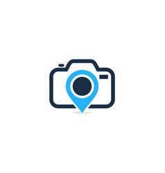pin camera logo icon design vector image