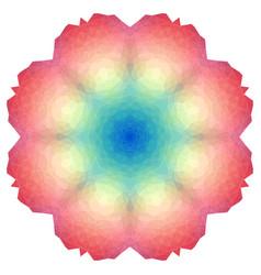 polygonal mandala color circle vector image
