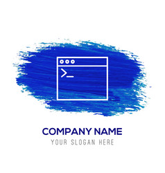 programming code icon - blue watercolor background vector image