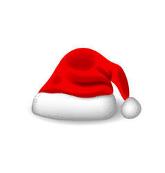 red santa hat realistic style eps 10 vector image
