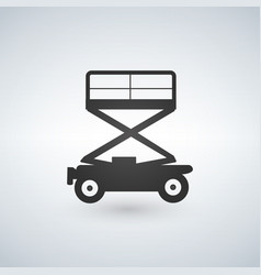 Scissors lift icon on white background vector