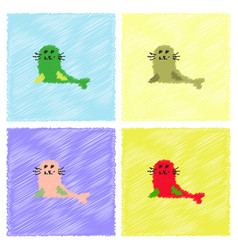 Seal animal icon cartoon of seal animal icon in vector
