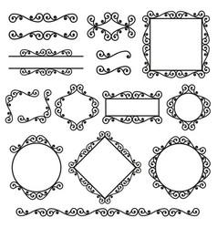 Set frames borders corners in same style vector