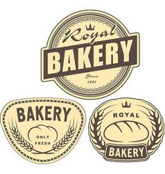 set of bakery labels for design or logo vector image