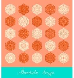 Set of mandala design circle ornament collection vector